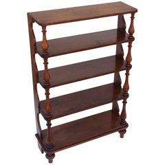 Tall English Standing Shelves or Bookcase Étagère of Fruitwood