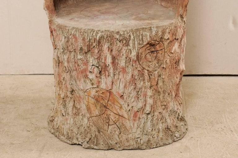 Tall Faux Bois Midcentury Tree Trunk Style American Folk Art Niche For Sale 4