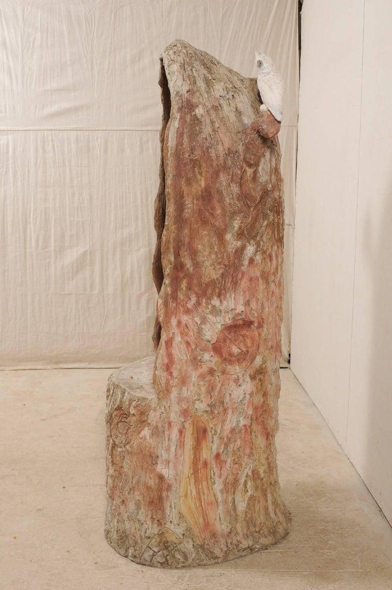 Tall Faux Bois Midcentury Tree Trunk Style American Folk Art Niche For Sale 5
