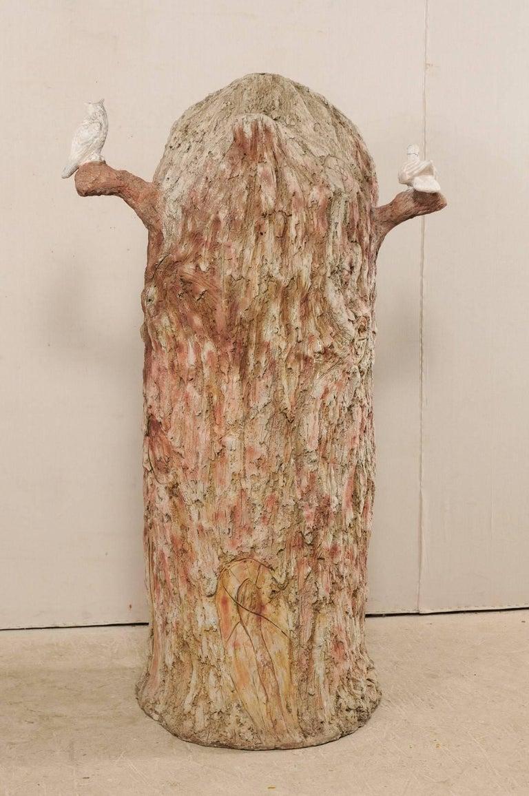 Tall Faux Bois Midcentury Tree Trunk Style American Folk Art Niche For Sale 8