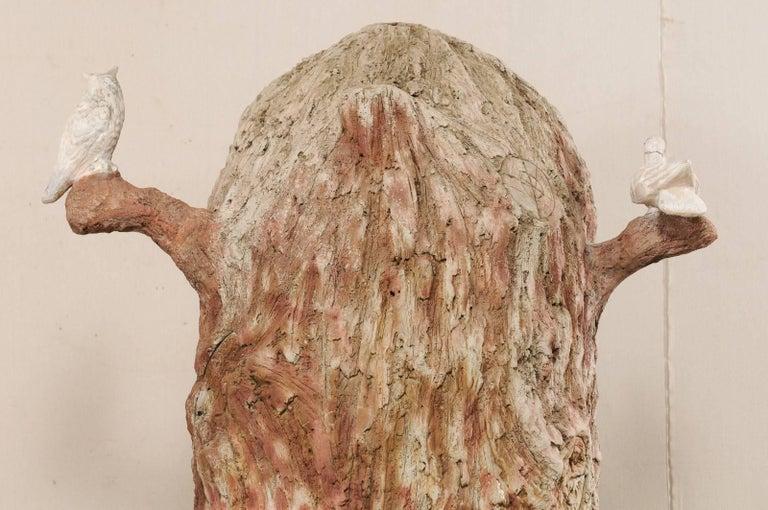 Tall Faux Bois Midcentury Tree Trunk Style American Folk Art Niche For Sale 9