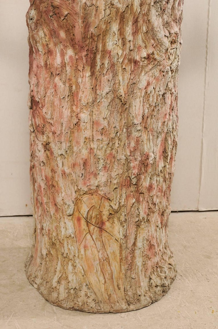 Tall Faux Bois Midcentury Tree Trunk Style American Folk Art Niche For Sale 10