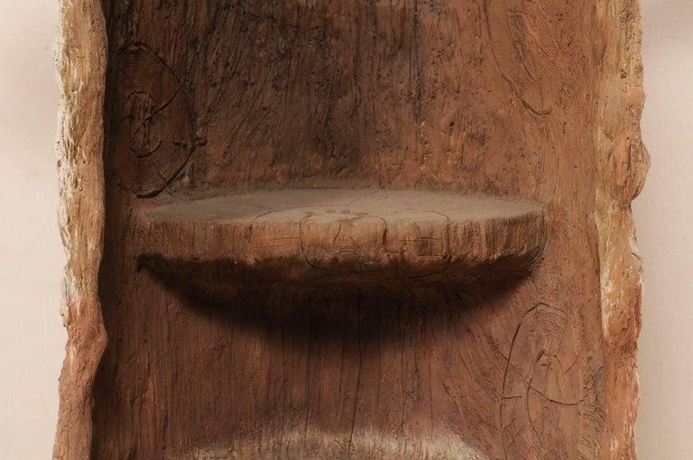 Tall Faux Bois Midcentury Tree Trunk Style American Folk Art Niche For Sale 2