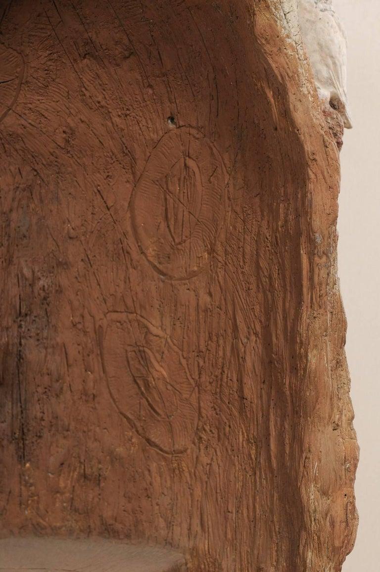 Tall Faux Bois Midcentury Tree Trunk Style American Folk Art Niche For Sale 3