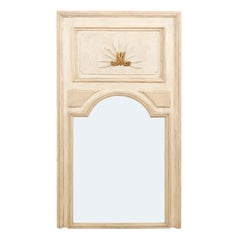 Tall French 19th Century Painted Wood Trumeau Mirror