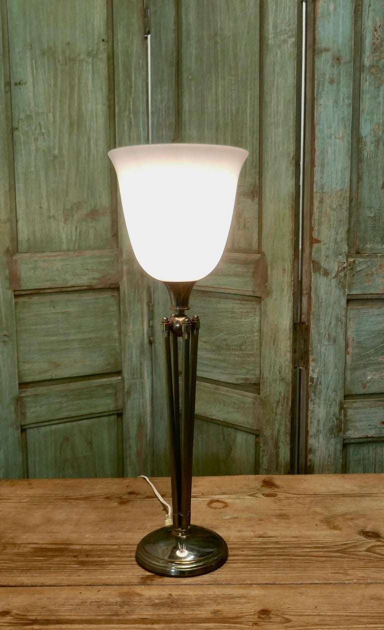 Tall French Art Deco Table Lamp In Good Condition For Sale In Chillerton, Isle of Wight