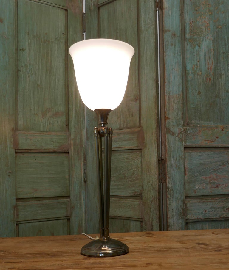 20th Century Tall French Art Deco Table Lamp For Sale