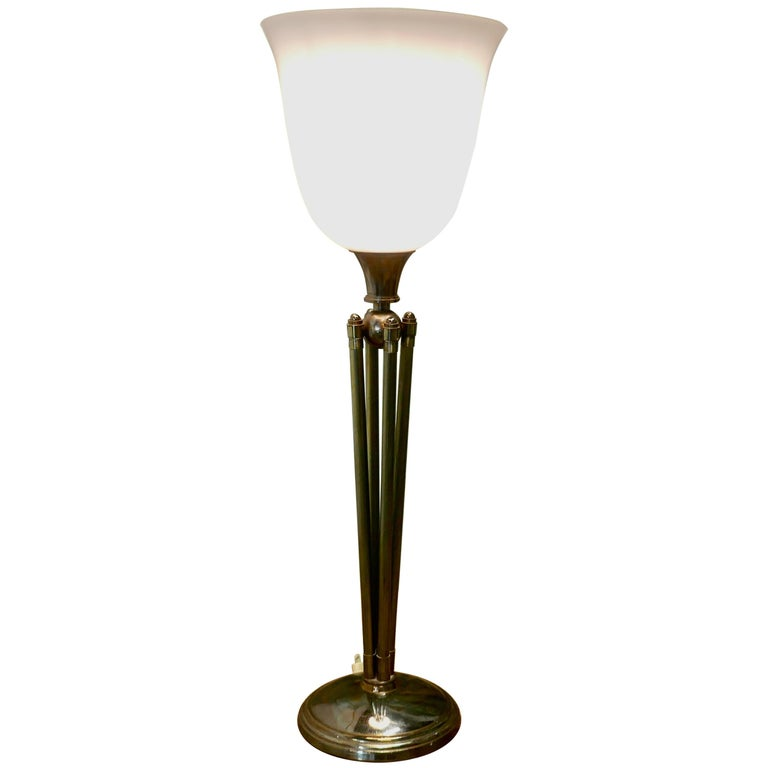 Tall French Art Deco Table Lamp For Sale