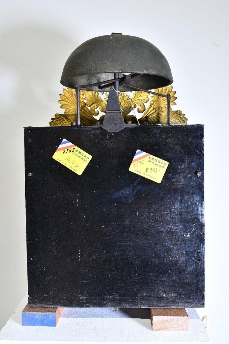 Tall French Louis XVI Long Case Clock w/ Walnut Case, circa 1790  For Sale 12