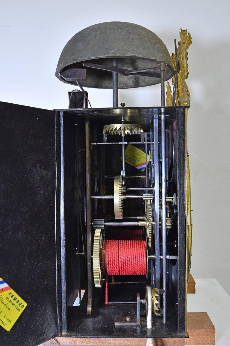 Tall French Louis XVI Long Case Clock w/ Walnut Case, circa 1790  For Sale 8