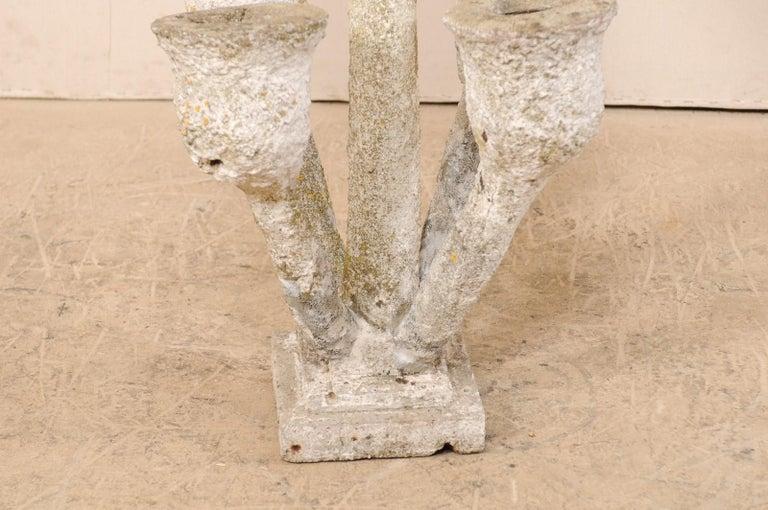 Tall French Mid-20th Century Folk Art Concrete Garden Planter For Sale 7