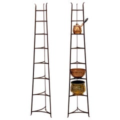 Tall French Pan or Pot Stand of Wrought Iron