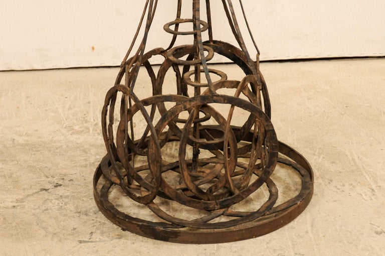 Tall French Sculptural Iron Abstract Art Piece, circa 1930s-1940s For Sale 4