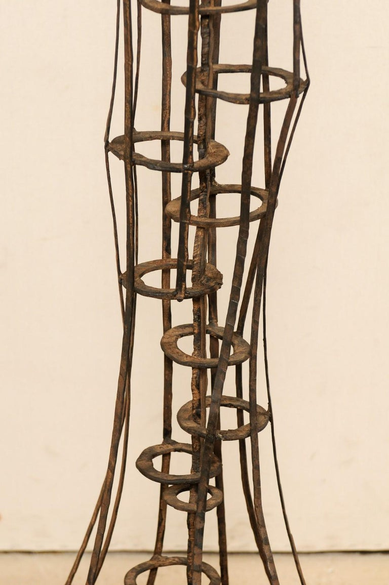 Metal Tall French Sculptural Iron Abstract Art Piece, circa 1930s-1940s For Sale