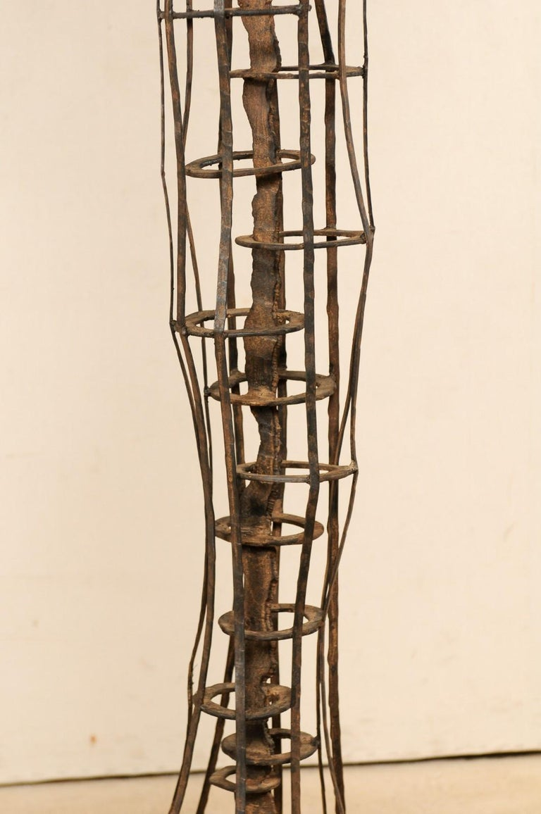 Tall French Sculptural Iron Abstract Art Piece, circa 1930s-1940s For Sale 2