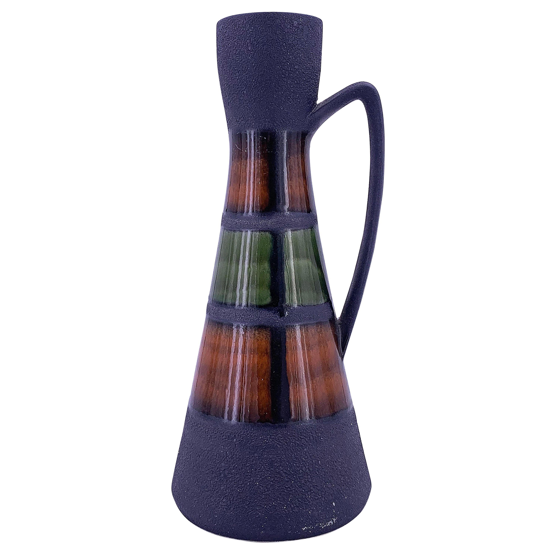 Tall German Ceramic Midcentury Pitcher