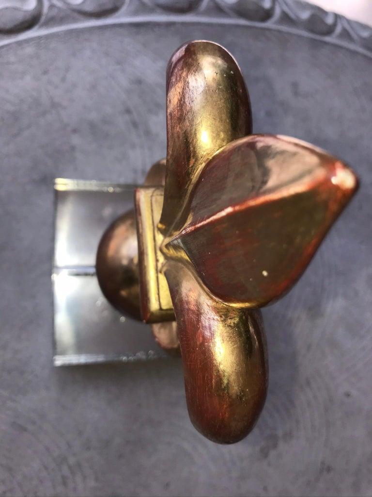 Tall Giltwood Architectural Form Fleur de Lys Fragment For Sale 1