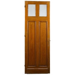 Tall Glazed Reclaimed Pine Door, 20th Century