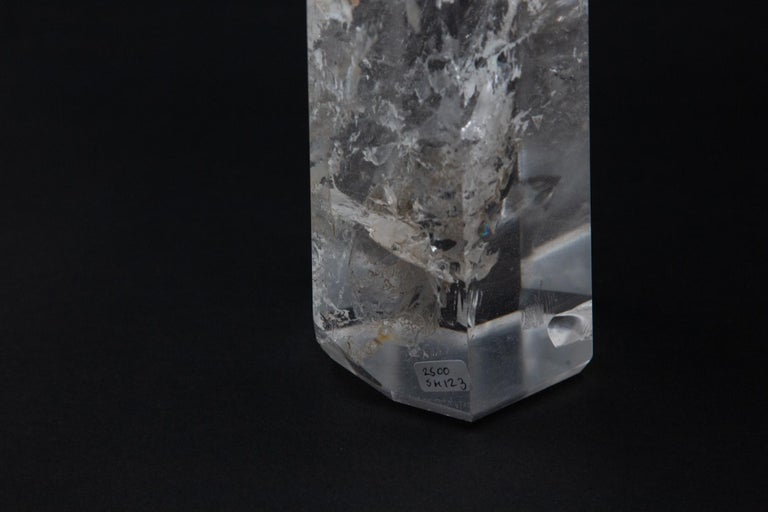 Tall Hand-Carved Rock Crystal (Quartz) Point 2