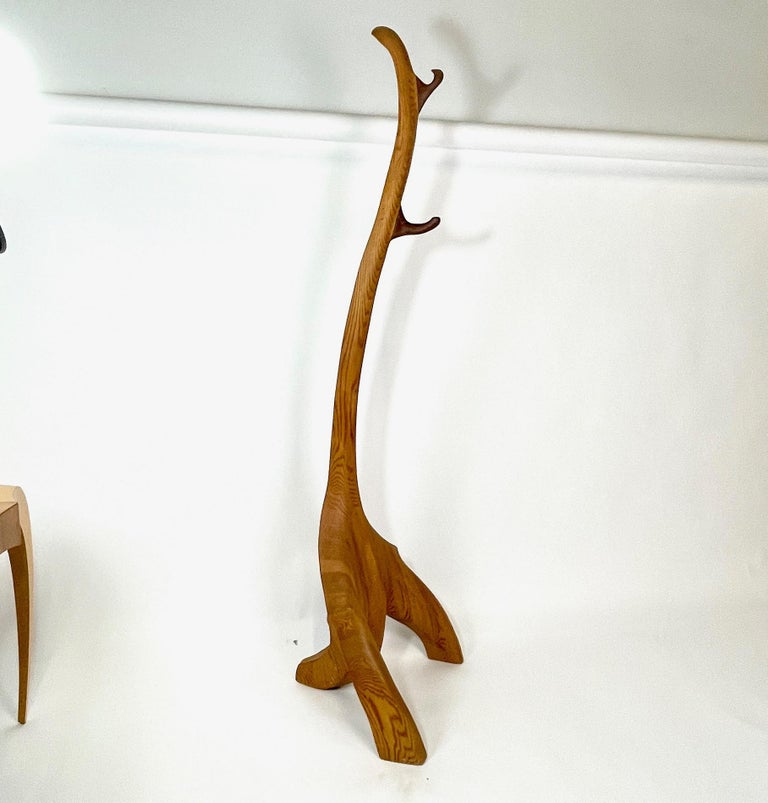 American Craftsman Tall & Heavy Sculptural Handcrafted Coat & Hat Rack in Manner of Wendell Castle For Sale