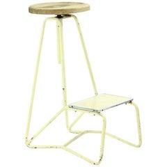 Tall Industrial Bar Stool/Chair, Czechoslovakia, circa 1960s