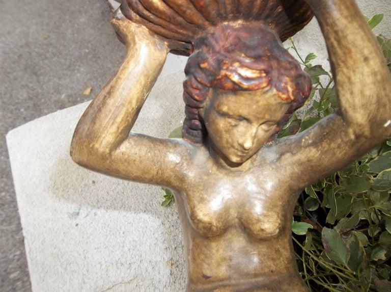 Romantic Tall Italian Mermaid Tazza or Centrepiece Compote For Sale
