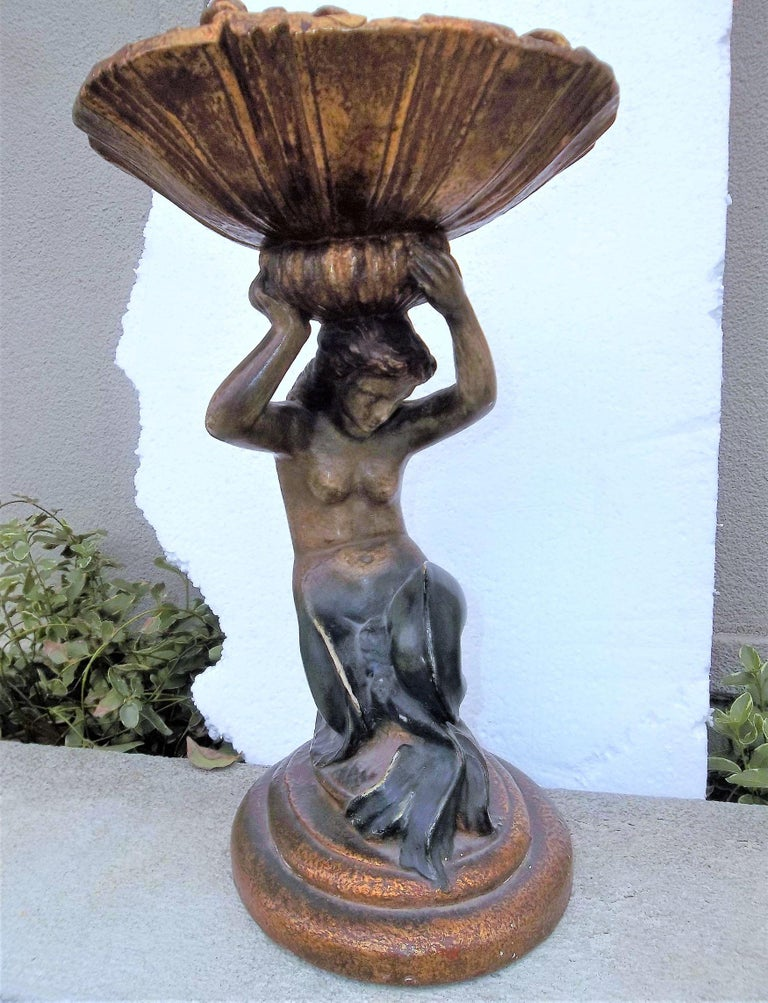 Tall Italian Mermaid Tazza or Centrepiece Compote For Sale 2