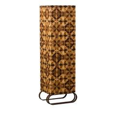 Tall Kaleidos Wood Inlay Cabinet