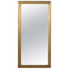 Tall Late 18th Century French Louis XVI Period Giltwood Mirror