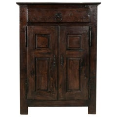 Tall early 19th Century French Louis XIV Style Oak Buffet d'Appui Cabinet