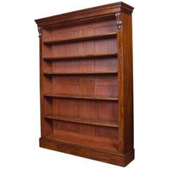 Tall Mahogany Open Bookcase