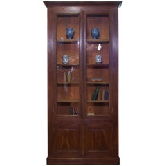 Tall Majestic 19th Century French Faux Rosewood Bibliothèque, Bookcase