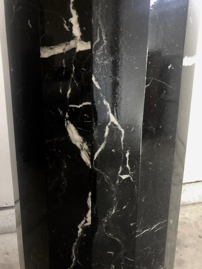 Italian Tall Marble Pedestal For Sale