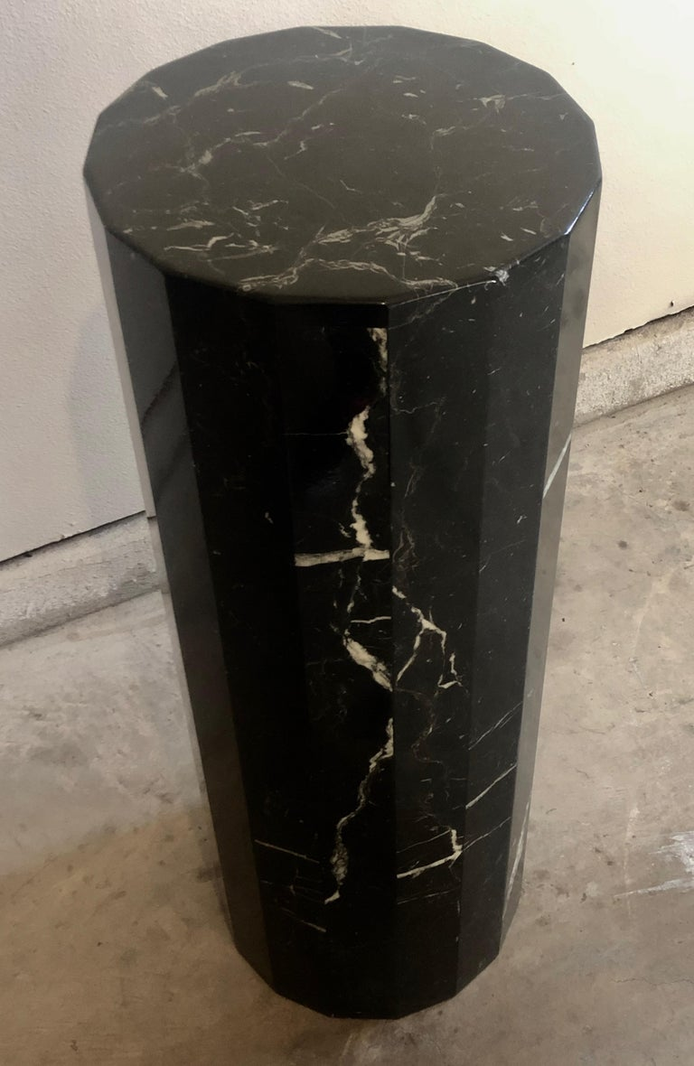20th Century Tall Marble Pedestal For Sale