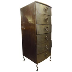 Tall Metal Chest of Drawers