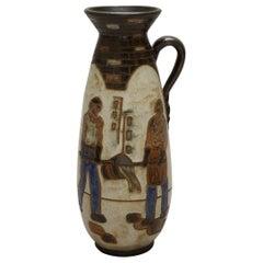 Tall Midcentury Dubois of Belgium Jug Style Vase