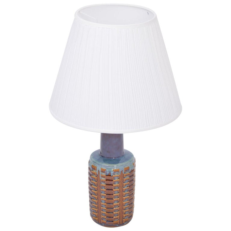 Tall Mid-Century Modern Ceramic Table Lamp by Einar Johansen for Soholm For Sale