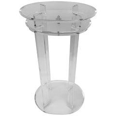 Tall Mid-Century Modern Rotating Top Lucite Pedestal