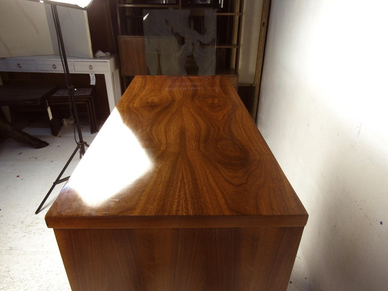 Tall Midcentury Walnut Dresser For Sale 5
