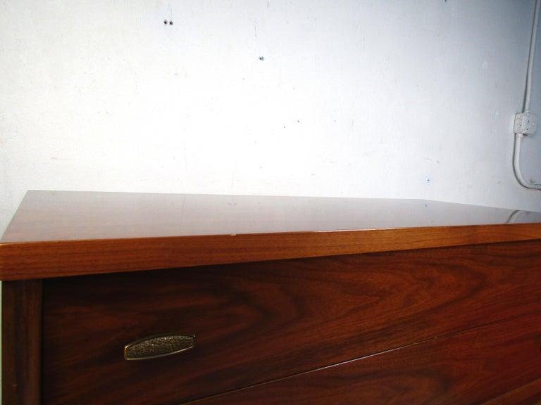 20th Century Tall Midcentury Walnut Dresser For Sale