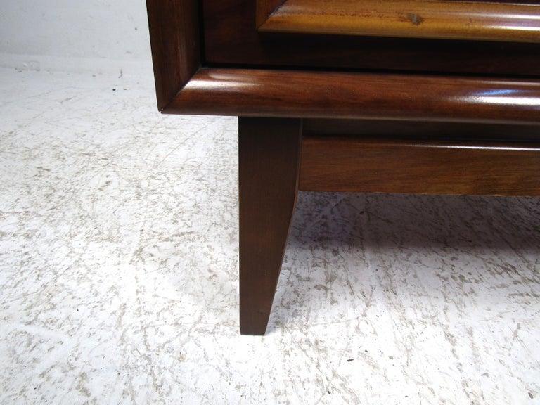 Tall Midcentury Walnut Dresser For Sale 1