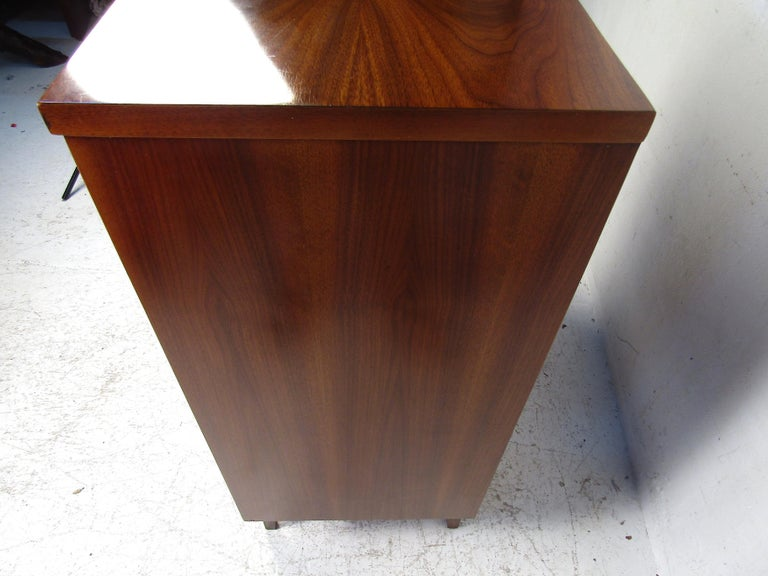 Tall Midcentury Walnut Dresser For Sale 4