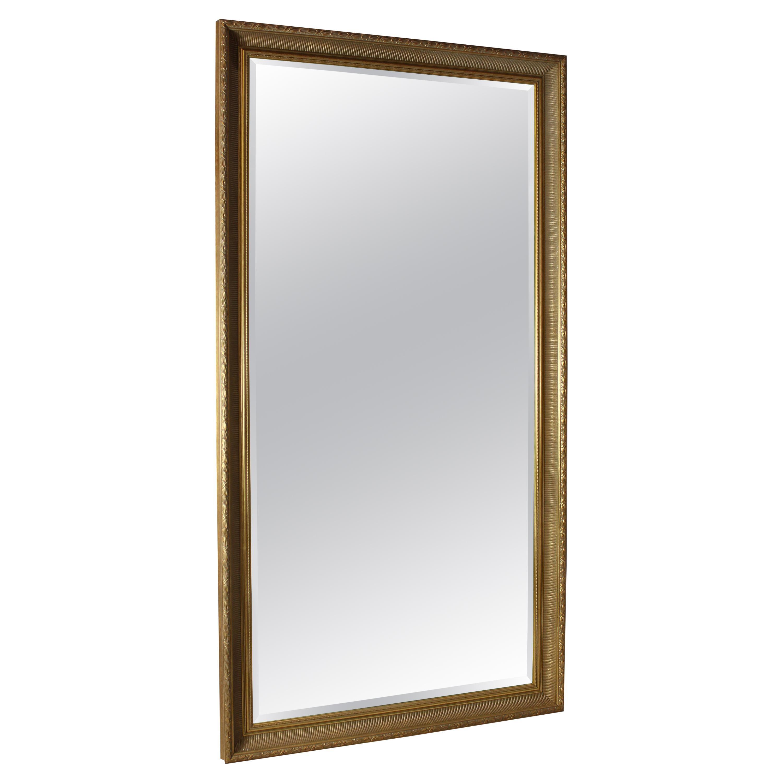 Tall Mirror, Gilt Wood, Carved Frame