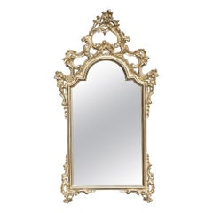 Tall Mirror with Gold Leaf
