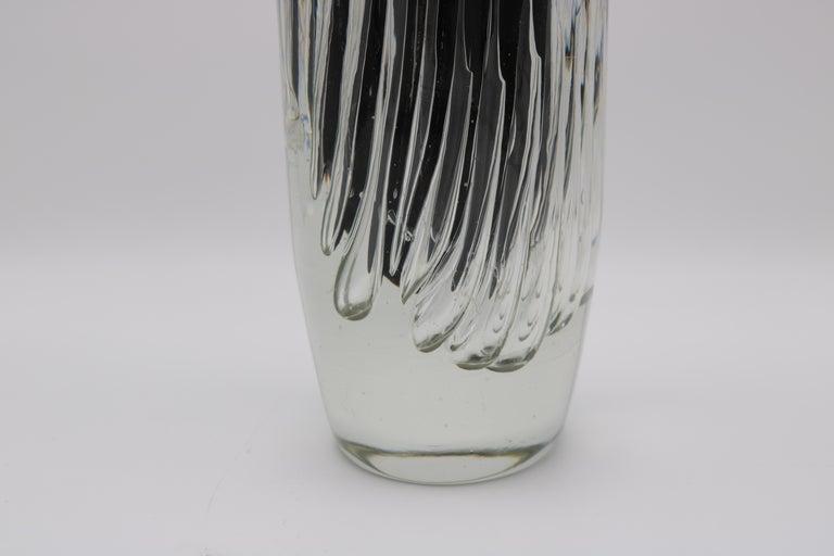 Italian Tall Murano Art Glass Vase by Paolo Venini For Sale