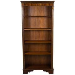Tall Narrow Open Adjustable Mahogany Bookcase Bookshelf