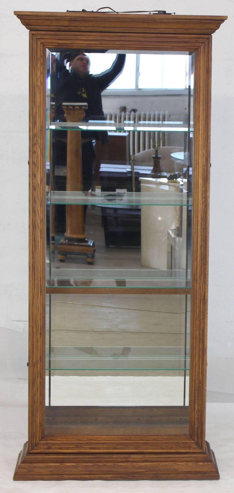Mid Century Modern China Cabinet Glass Doors
