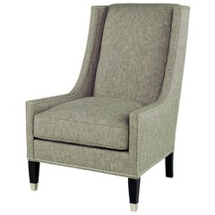 Tall Navarre Chair in Gray by CuratedKravet