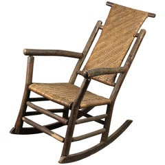 Tall Old Hickory Rocker Perfect for Cabins and Cottages