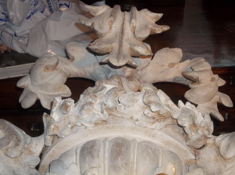 Tall Pair of Carved Floral and Foliate Architectural Fragments or Appliques For Sale 3